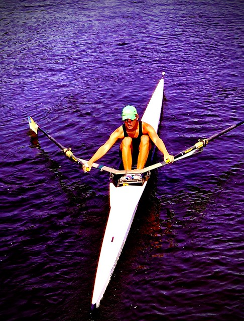 Rowing on the Huron River.