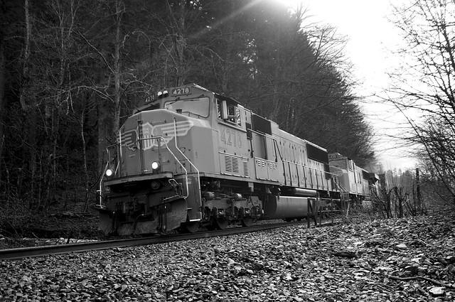 Union Pacific at Benson Lake, Oregon