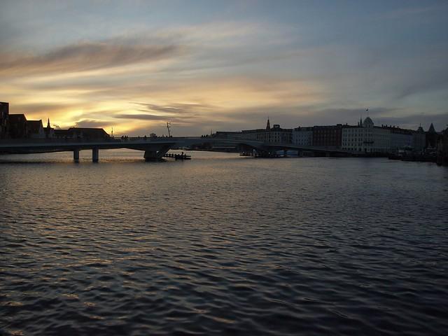 Solstice sunset over Nyhavn, Copenhagen, Denmark