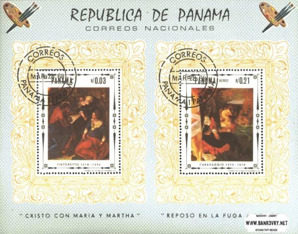 Známky Panama 1968 Ježiš Kristus razítkovaný hárček
