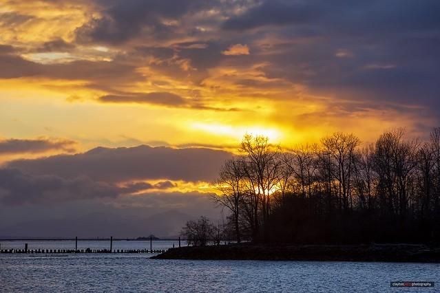 Sunset Over Shady Island