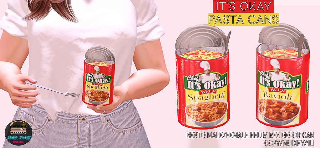 Junk Food - It's Okay Pasta Cans Ad