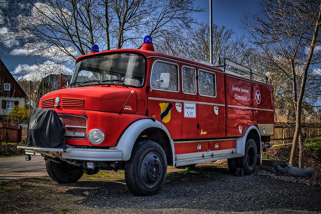 classic old MERCEDES FIRE TRUCK