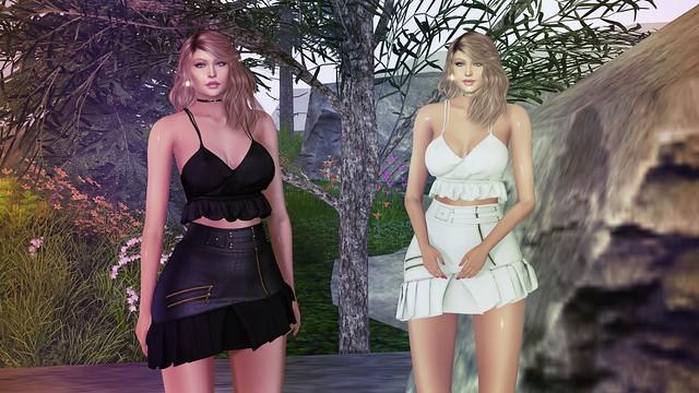 Kaithleen's Linen Crop Top @Covet