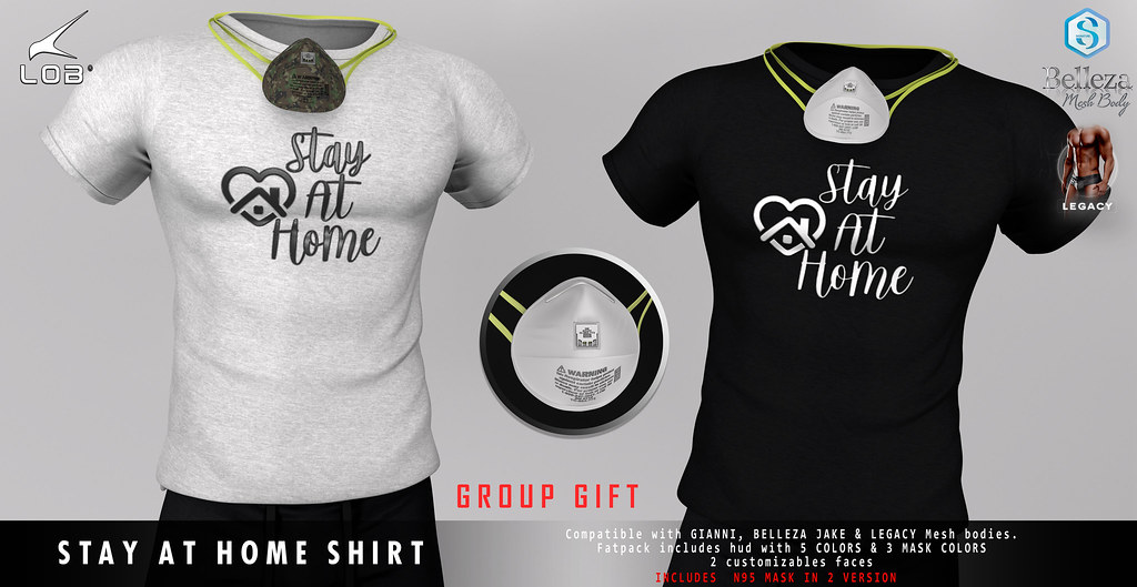 [LOB] STAY AT HOME SHIRT – GROUP GIFT