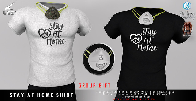 [LOB] STAY AT HOME SHIRT - GROUP GIFT
