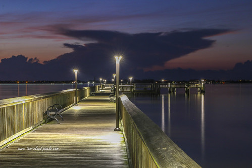 morning sky seascape clouds landscape dawn pier cloudy predawn fishingpier park reflection nature water night river outdoors lights perspective lagoon reflect lamppost indianriver leadinglines usa florida jensenbeach indianriversidepark explore explored