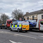 Recent car crash in Ashton-on-ribble Preston