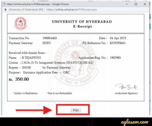 University of Hyderabad Application Form 2020 - Last Date Extended (30 June), Apply at uohyd.ac.in