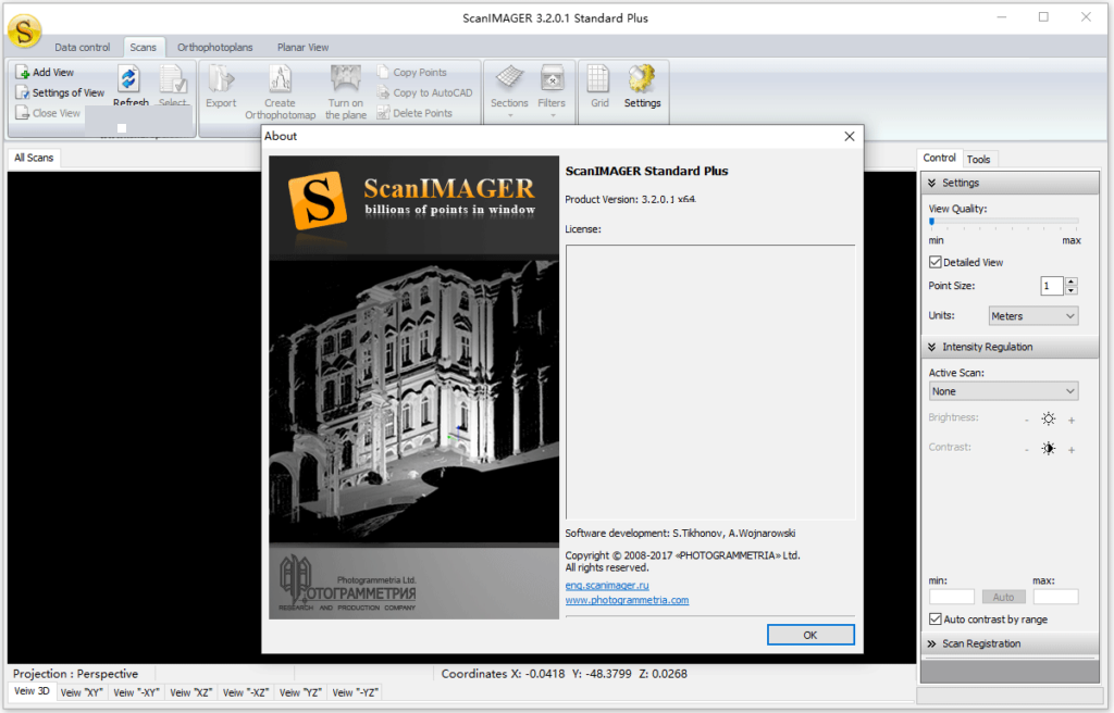 Working with Photogrammetria ScanIMAGER Standard Plus 3.2 full