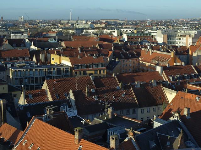 Copenhagen over Frederiksberg, Denmark