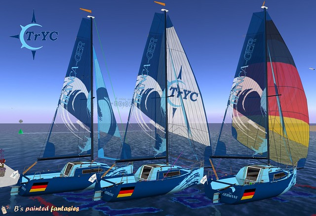 The TrYC racedesign for our saturday race with some personalisation for the sailors for free