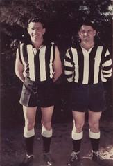 Life membership Mallala Football Club, left Ron Tucker and Ray Earl