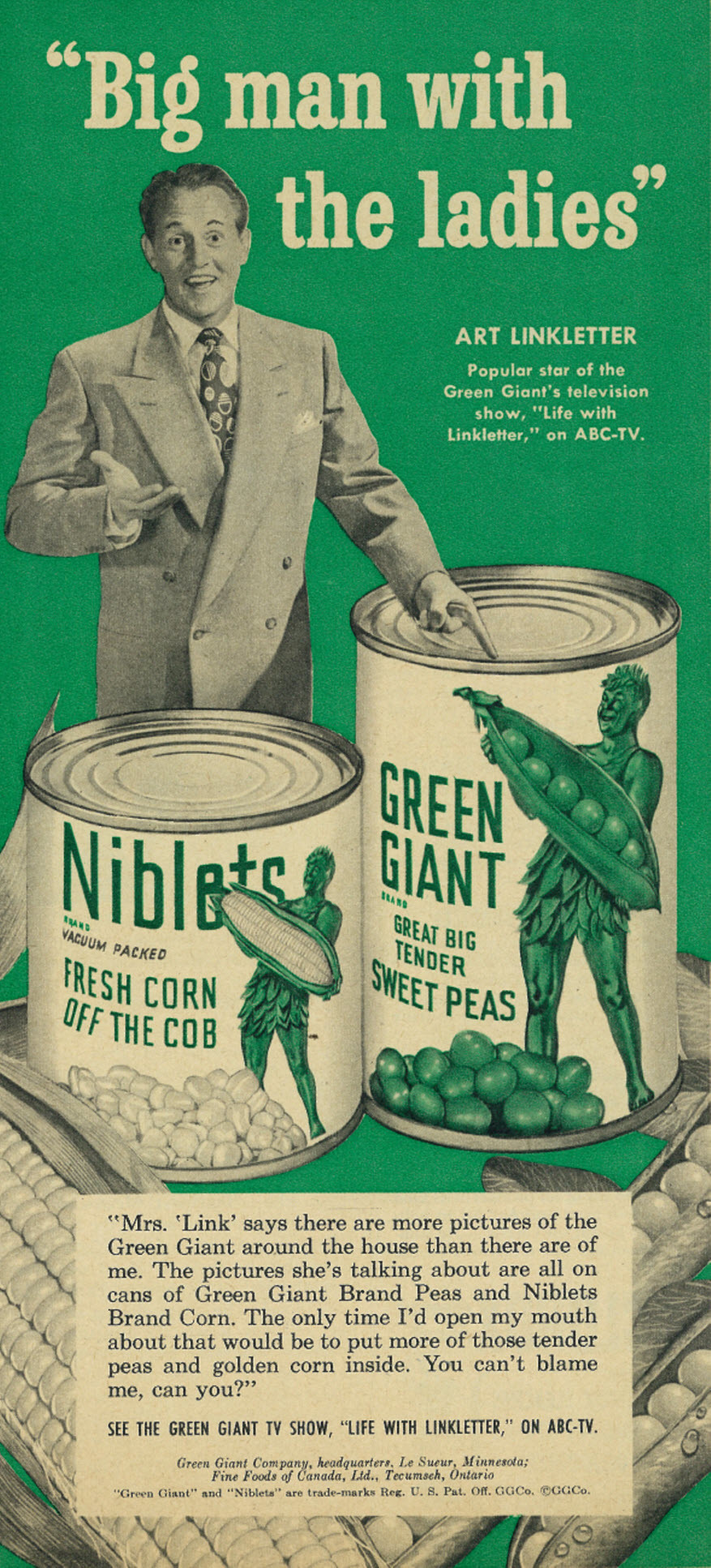 Green Giant Company - Big Man with the Ladies (featuring Art Linkletter) | Flickr