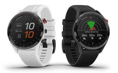 The new Garmin Approach S62 in White and Black.