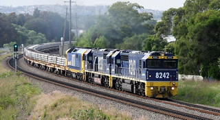 IMG_6106_TO UPLOAD8242 +8237 & 8111 SLEEPER TRAIN - CLIMBING FROM WARATAH TO HANBURY JUNCTION   28th Mar 2020 | by petercousins47
