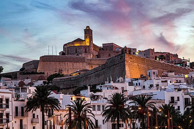 Atardecer en Ibiza ciudad