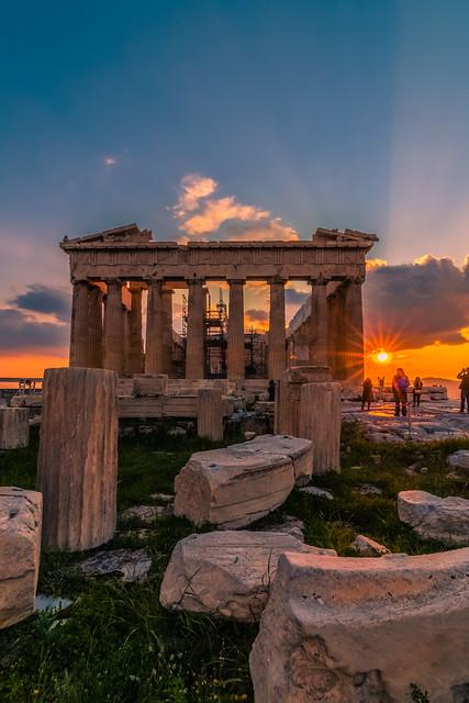 Acropolis at sunset
