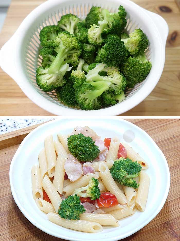 青花菜通心麵