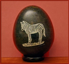 Egg-ceptional zebra