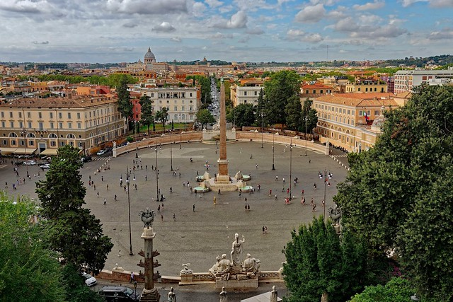 Roma / Piazza del Popolo / Terrazza del PIncio