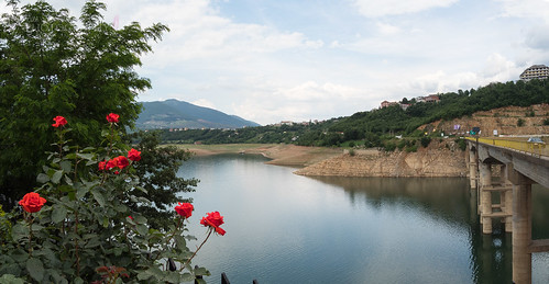 albania europe kosovo kukes panorama riverdrin blackdrin fierzareservoir