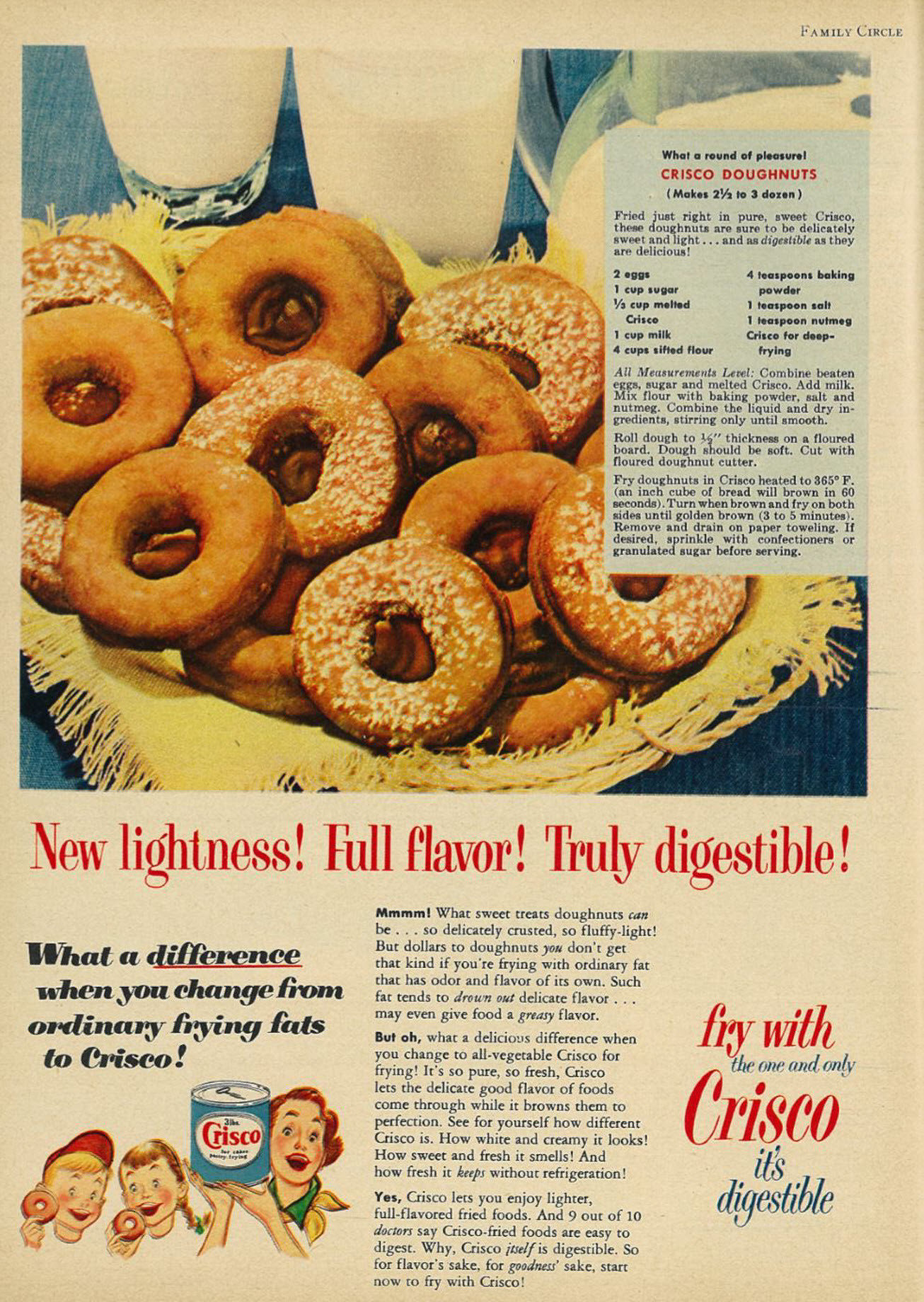 Crisco - New Lightness! Full Flavor! Truly Digestible!   Flickr