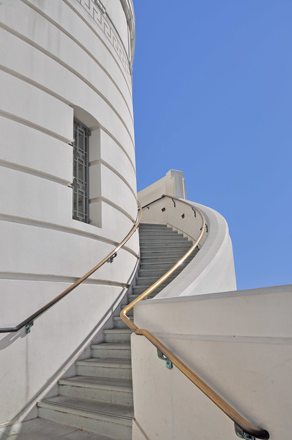 Griffith Observatory Rocketeer Stairs
