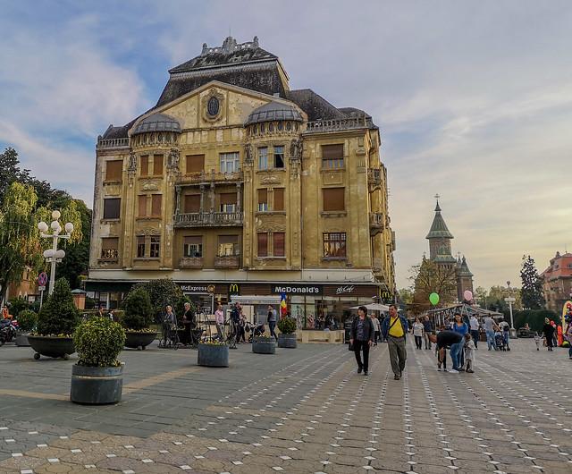 At the city center of Timisoara, Romania.
