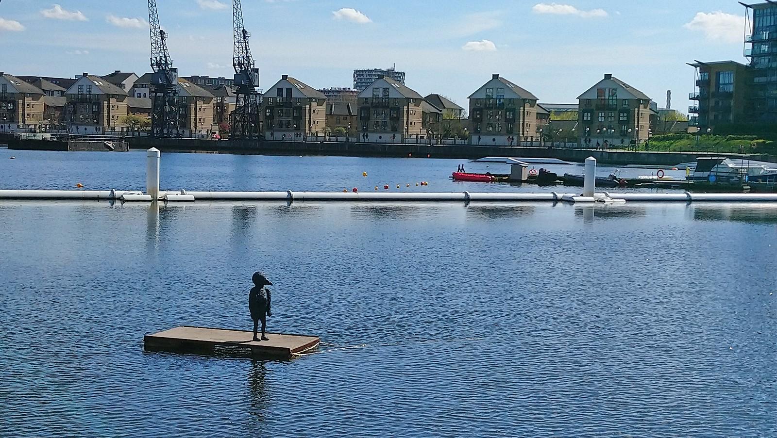 Laura Ford - Bird Boy, at Royal Victoria Docks SWC Short Walk 21 - The Line Modern Art Walk (Stratford to North Greenwich)