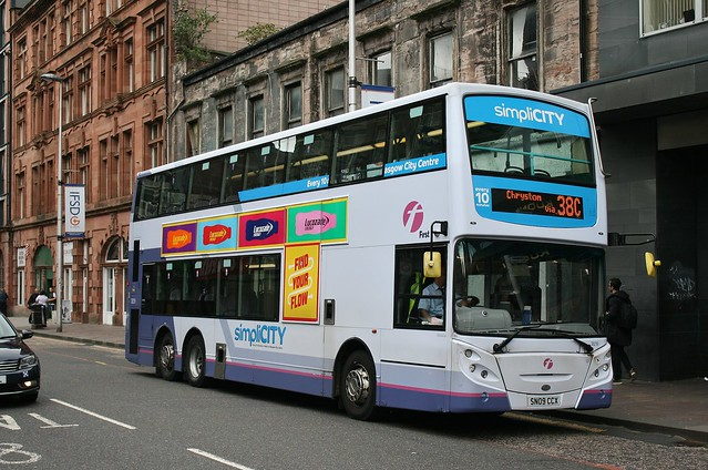 First Glasgow SN09 CCX (38219)   Route 38C   Oswald St, City Centre