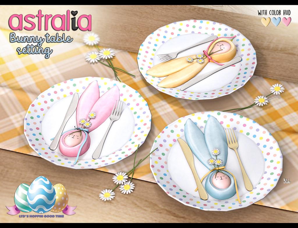Astralia – Bunny table setting (LTD)