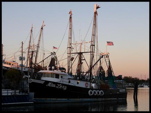 sponge docks tarpon springs tampa bay florida usa fl shrimp boats waterfront maritime marine nautical kodak az901
