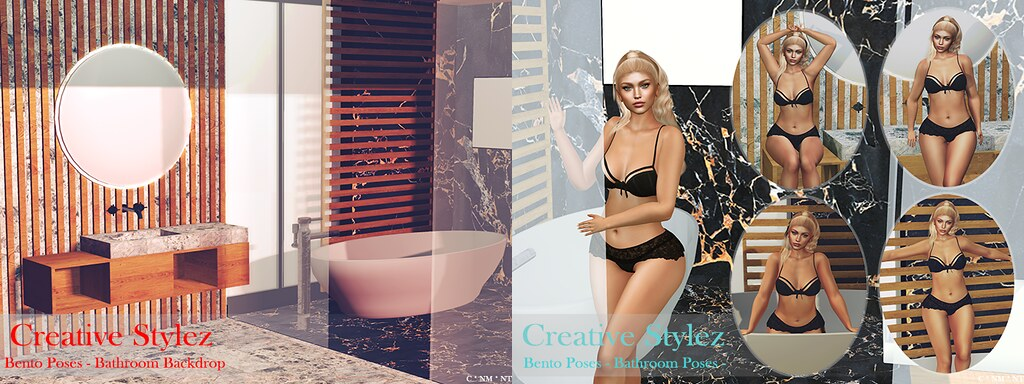 Creative Stylez – Bento Poses – Bathroom –