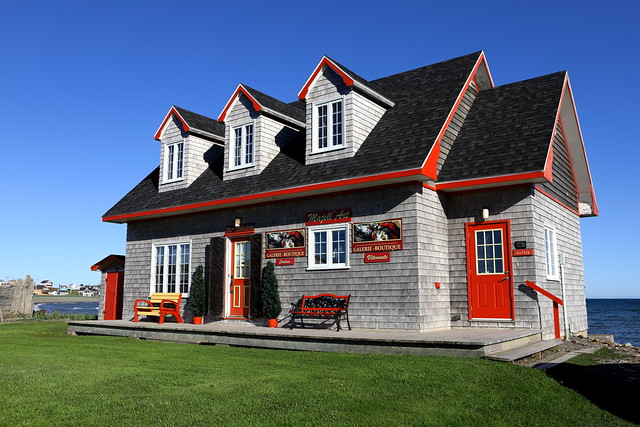 Bel architecture au petit village Acadien à Havre Aubert aux Îles !