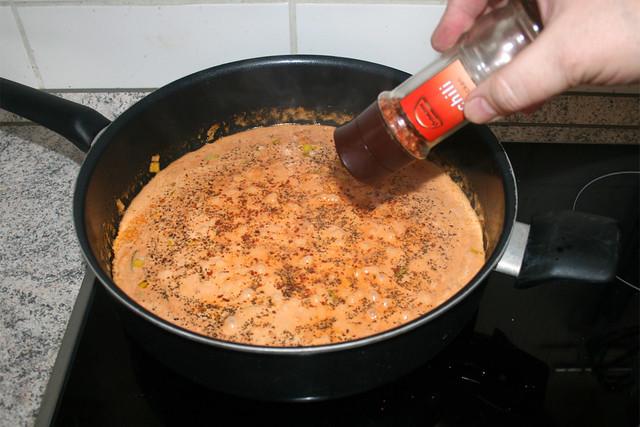 34 - Mit Chiliflocken abschmecken / Taste with chili flakes
