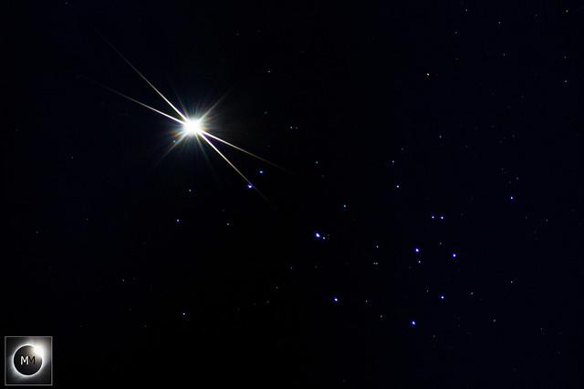 Venus & M45 The Pleiades Conjunction 21:10 04/04/20