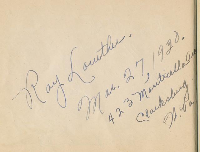 Cletha's Autograph Book
