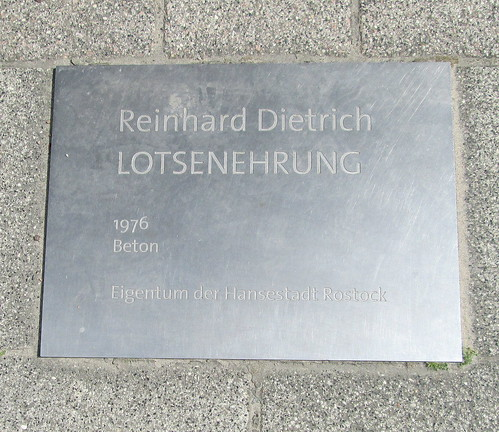 Sculpture plaque, Warnemünde
