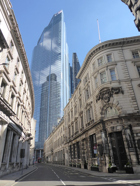 Threadneedle Street and 22 Bishopsgate Tower, City of London