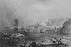Malta, Valletta, Grand Harbour c.1830