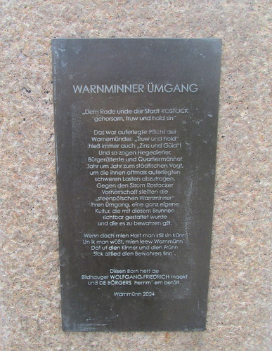 Plaque, Fountain, Warnemünde