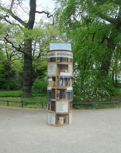 Book Pillar In a Park, Warnemünde