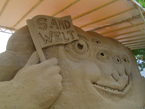 Sand Welt (Sand World) Sculpture, Warnemünde