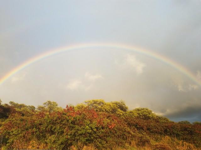 rainbow over Kona