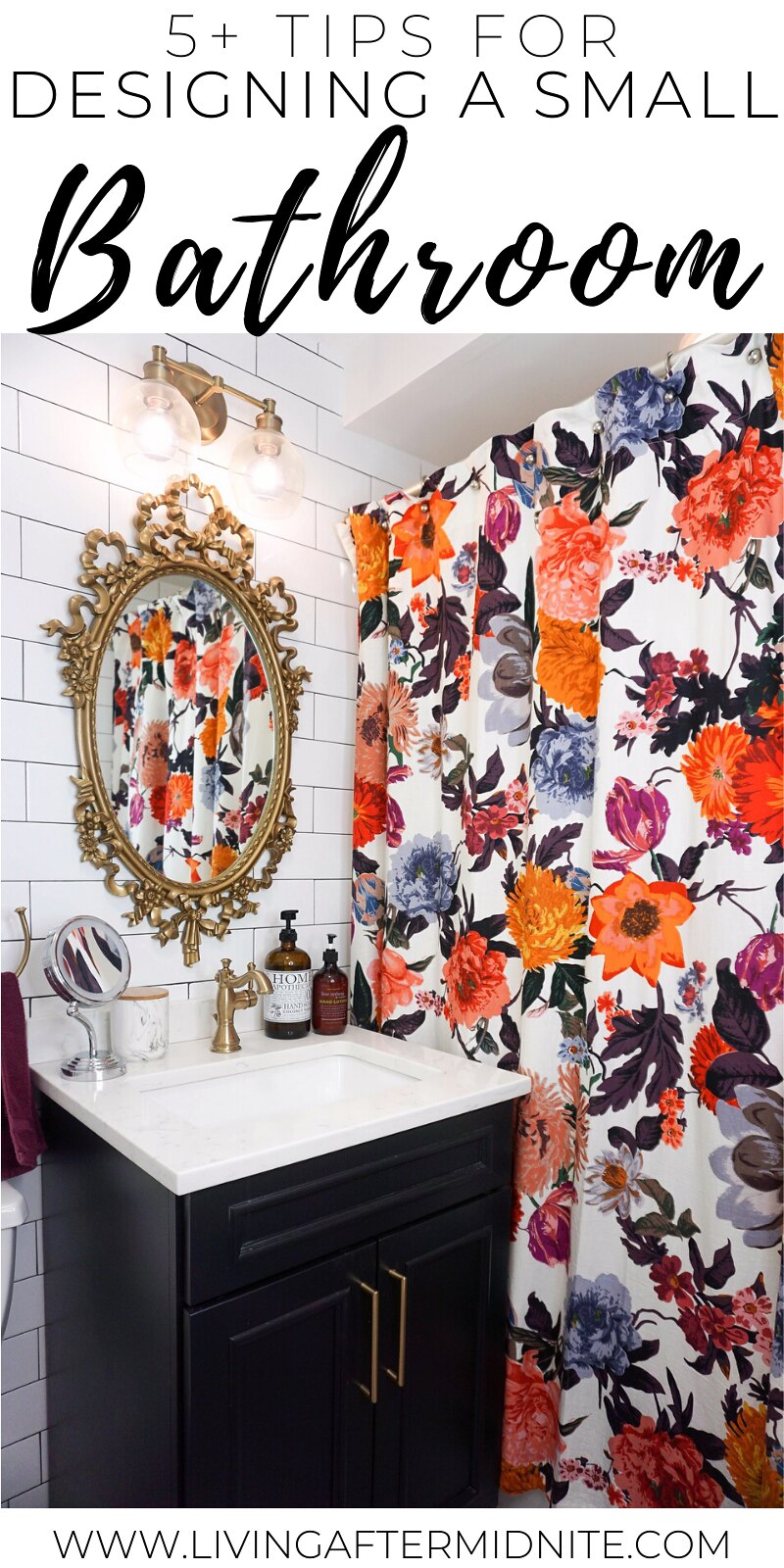 5 Practical Tips for Designing a Small Bathroom | Eclectic Boho Colorful Small Bathroom Inspiration