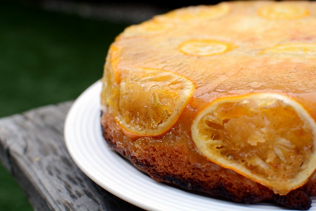 Backyard Citrus Upside Down Cake by Nicole Rucker