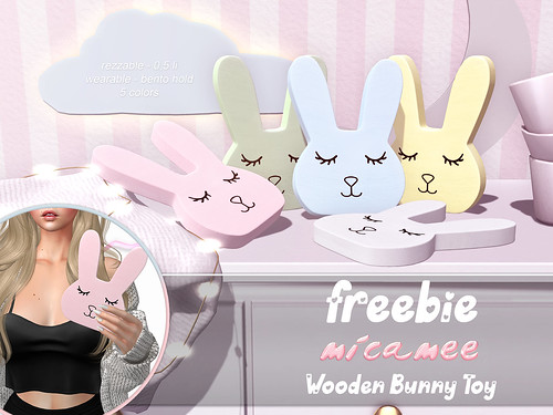 .micamee. Wooden Bunny Toy - FREEBIE!