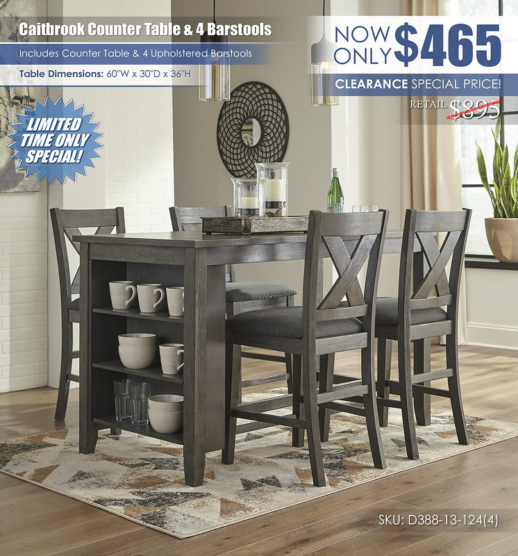 Caitbrook Counter Table and 4 Barstools_D388-13-124(4)