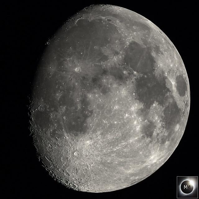 85% Waxing Gibbous Moon 21:17 BST 04/04/20